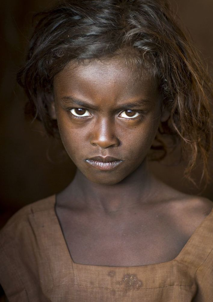 Borana Tribe Girl, Marsabit District,..
