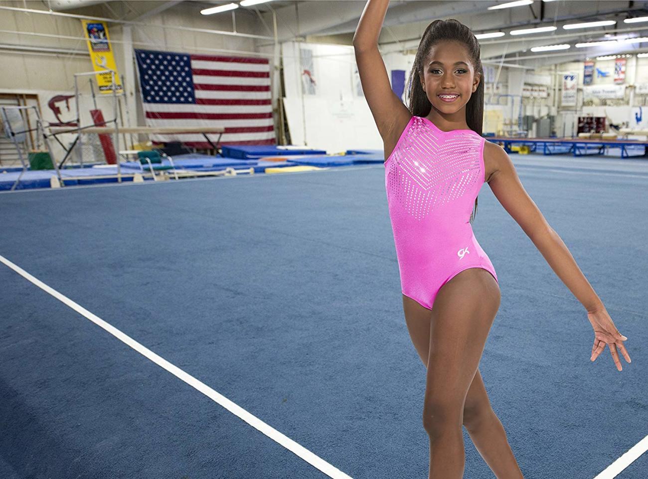 Young woman women gymnastics..