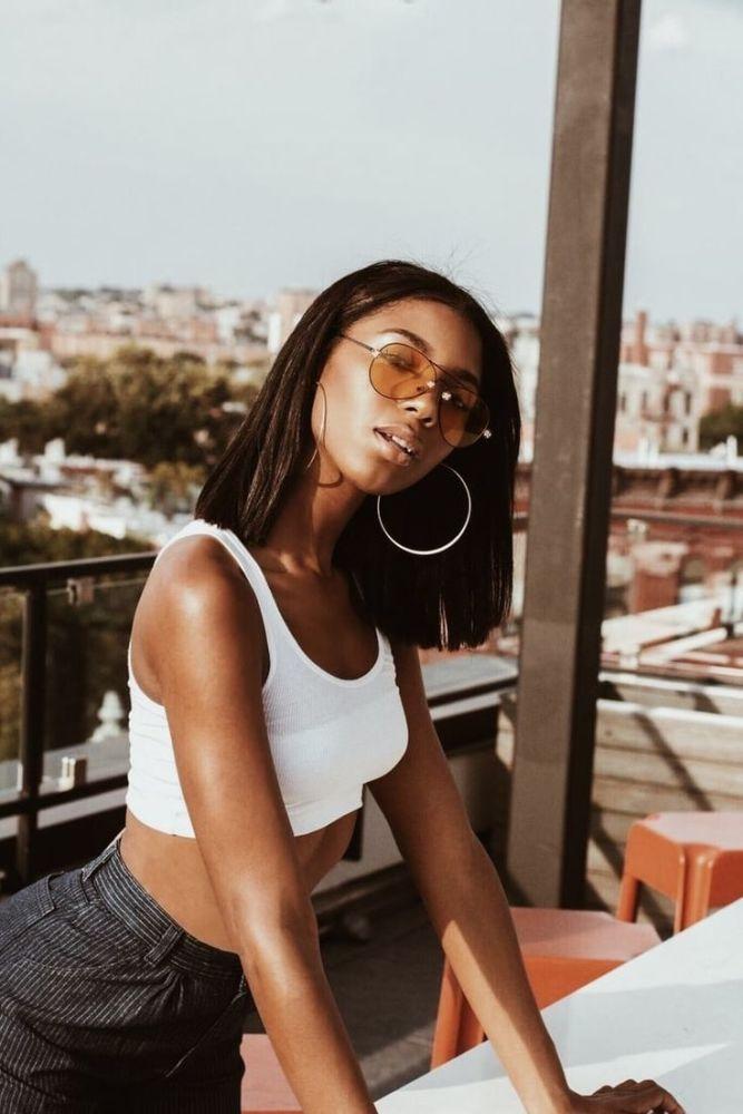 girl, pretty, and melanin photo..
