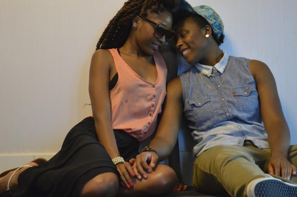 Ebony Lesbian.  Fellows Tugging Off...