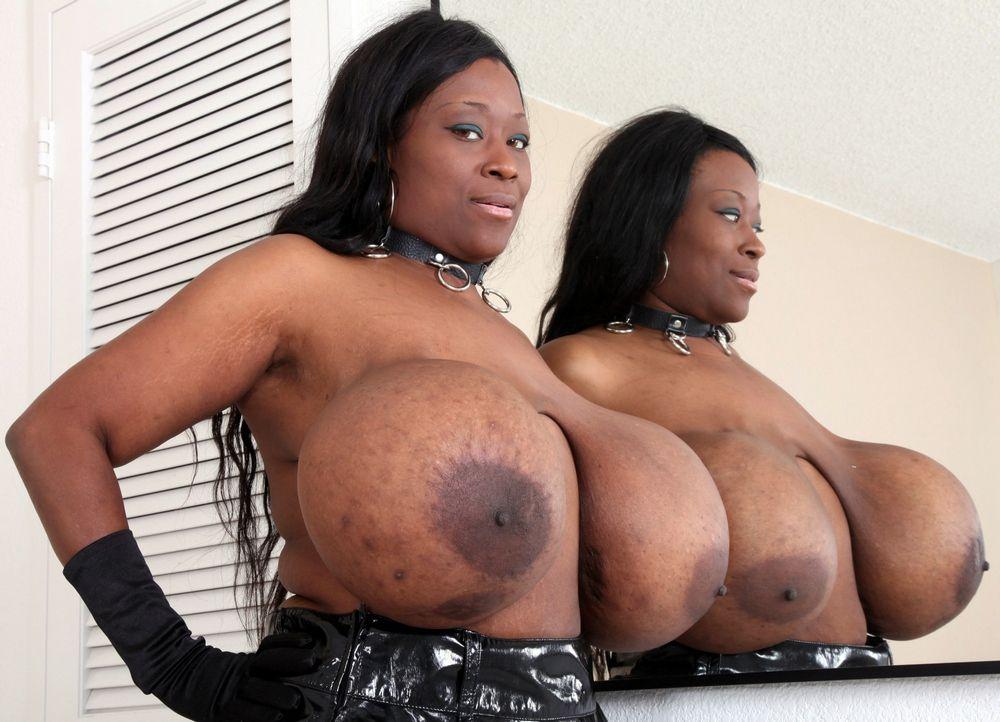 Un-fucking-real ample tits, dark-hued..