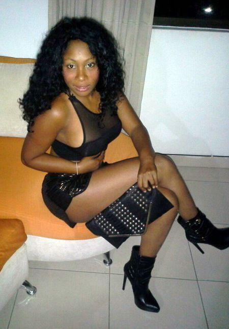Fancy black  wearing a translucent..