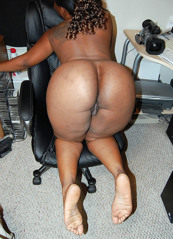 Chubby and obese dark-hued bootie in..