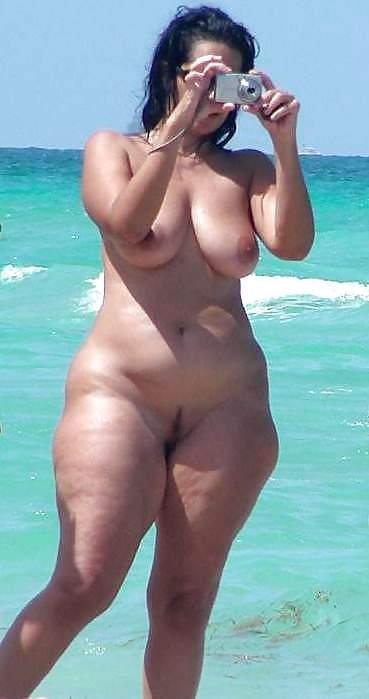 Ebony nudist! Public naked  dark-hued..