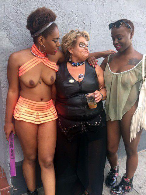 Ebony damsels nudists in some euro..