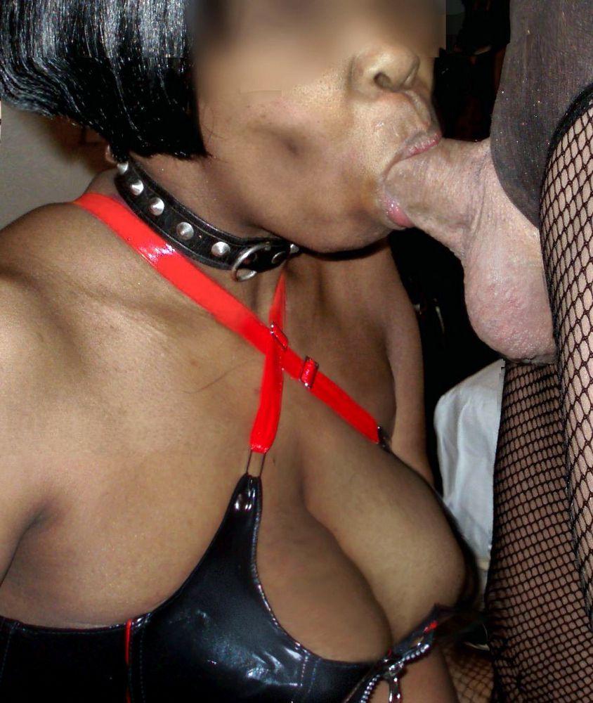 Servant gargling dark-hued wench in..