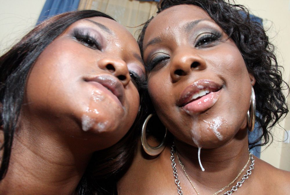 Ample dark-skinned jugs and cascading..
