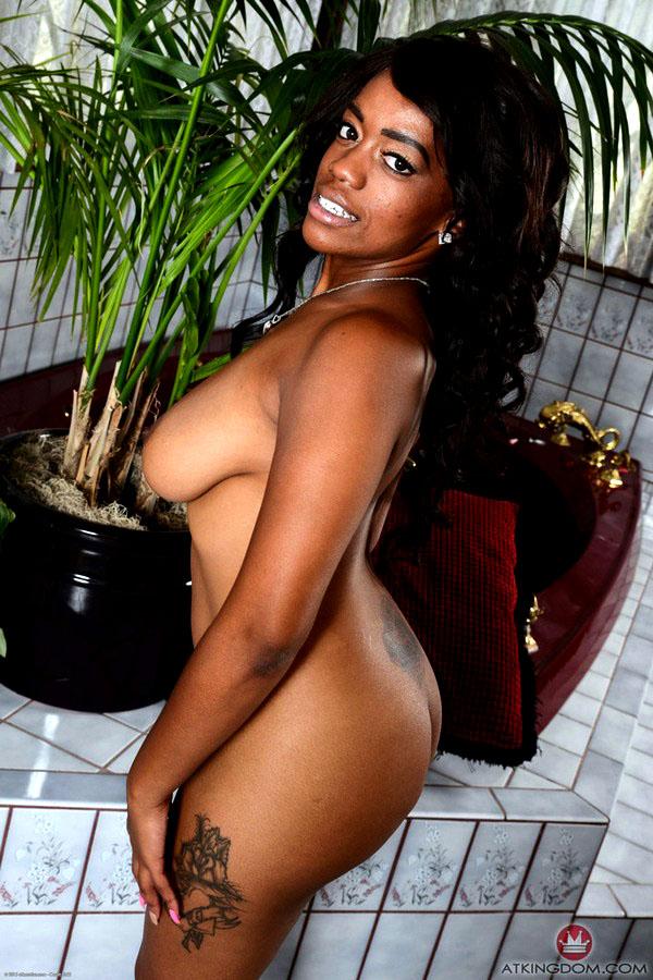 Black woman Amber Testicle tonic..